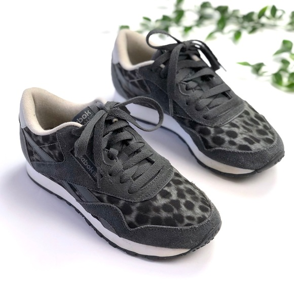 Reebok Classic Wild Gray Leopard Sneakers